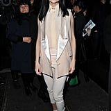 Rocking all Givenchy pieces, Leigh Lezark looked sweet in pale blush pink tones.