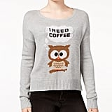 Owl Graphic Sweater