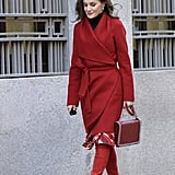 Queen Letizia Red Knee-High Boots