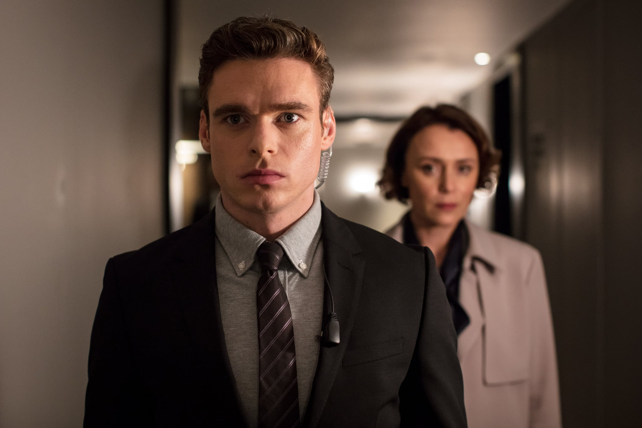 BODYGUARD, from left: Richard Madden, Keeley Hawes, 'Episode 3', (Season 1, ep. 103, aired in UK on Sept. 2, 2018/airs in US on Oct. 24, 2018). photo: Sophie Mutevelian / Netflix/BBC / Courtesy: Everett Collection