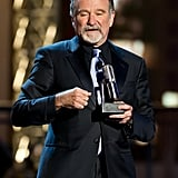 Robin Williams accepted an award at the Comedy Awards in NYC.