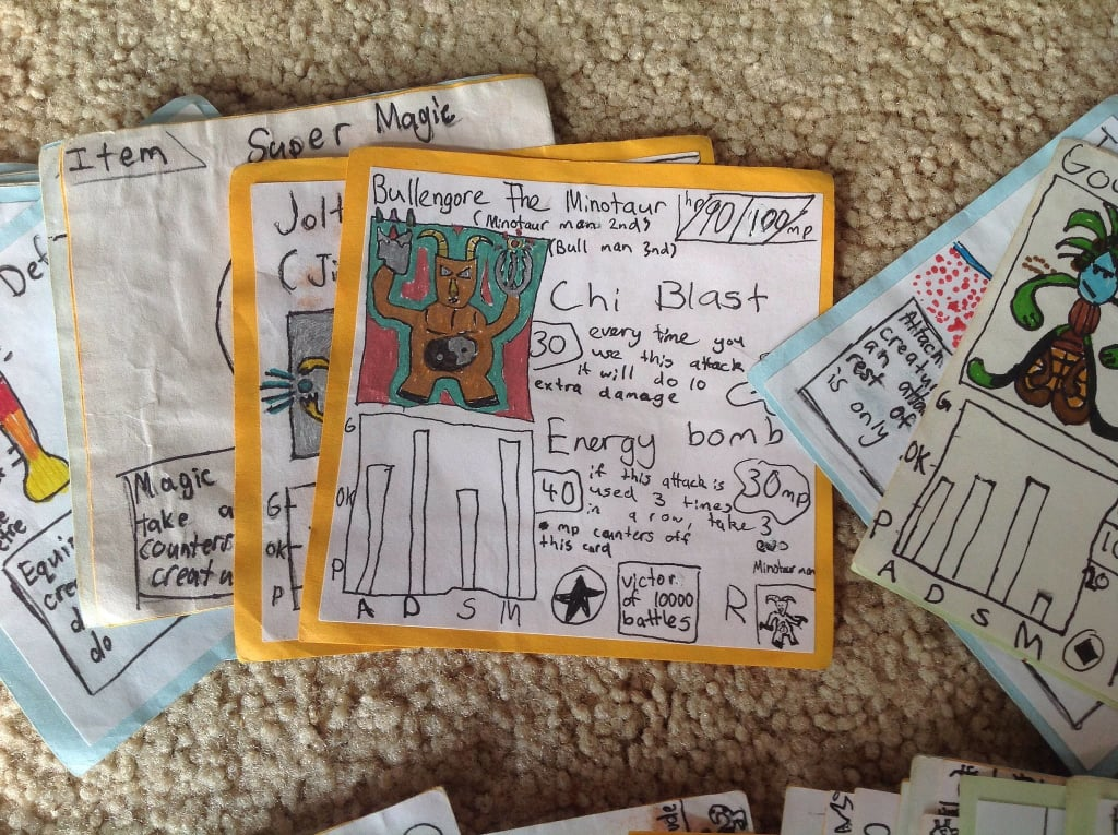 Brothers Make Their Own Card Game