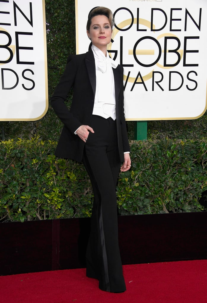 Evan Rachel Wood's Altuzarra Suit at Golden Globes 2017