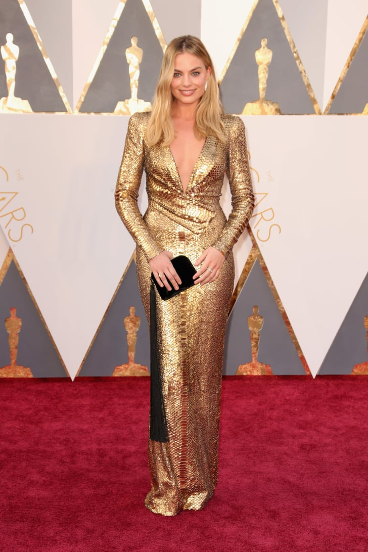 Margot Robbie Oscars Red Carpet Dresses 2016 Popsugar