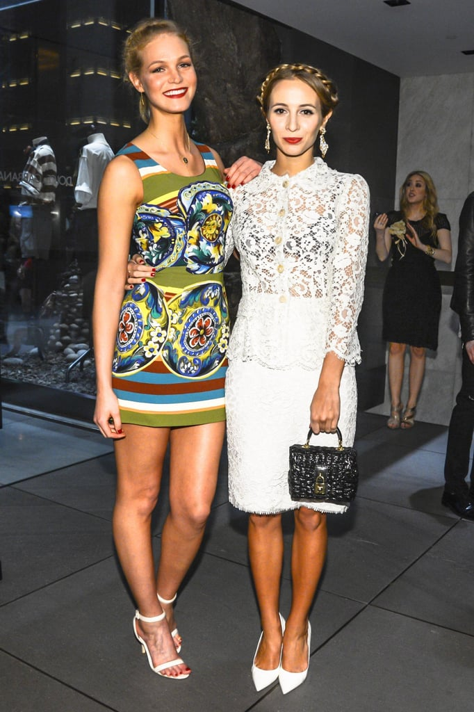 Erin Heatherton and Harley Viera Newton at the opening of Dolce & Gabbana's Fifth Avenue boutique. Matteo Prandoni/BFAnyc.com