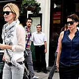 Kate Moss and Sadie Frost celebrated Sadie's birthday at lunch in Primrose Hill, London.