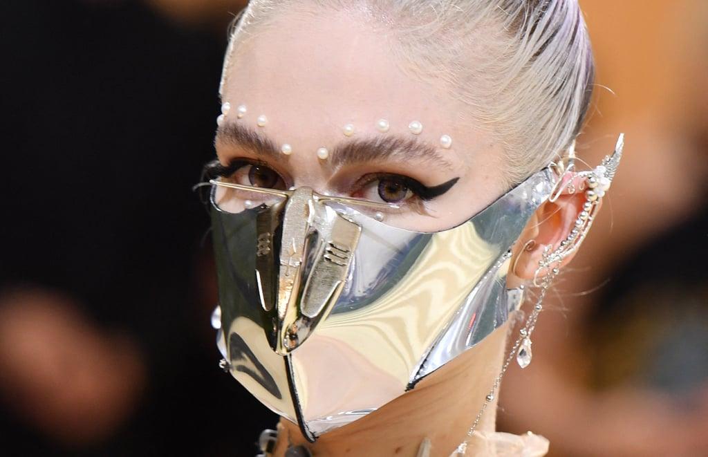 Grimes's Pearl Eye Makeup at the Met Gala 2021