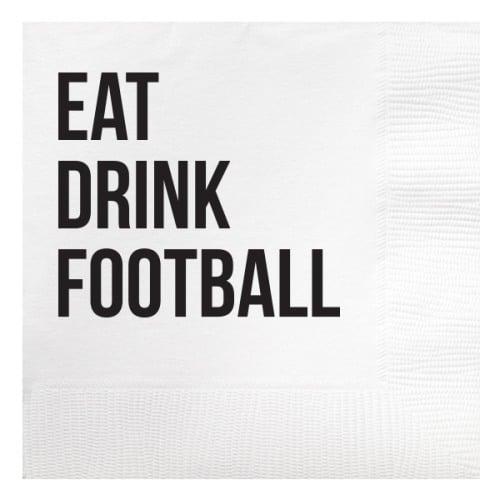 Eat Drink Football Beverage Napkins