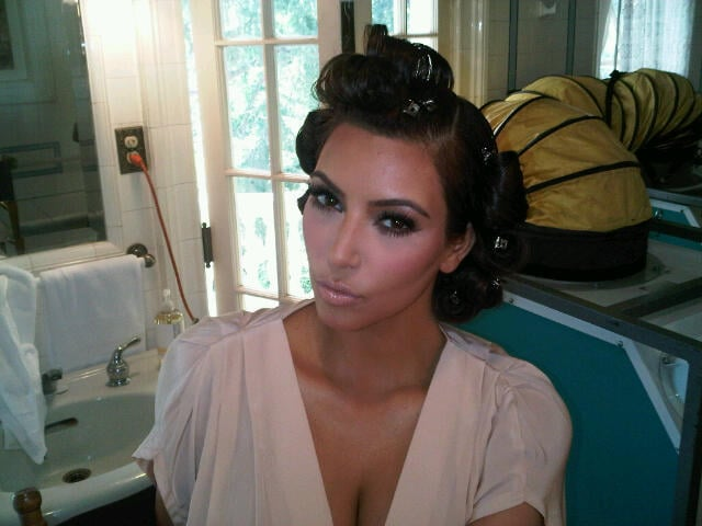 Kim Kardashian Does Old Hollywood Glam For New Fragrance