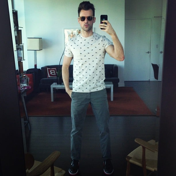 Brad Goreski shared his look of the day. Source: Twitter user mrbradgoreski