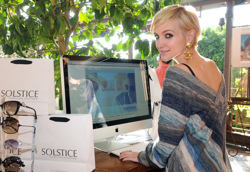 Ashlee Simpson at Launch of Solstice Sunglasses
