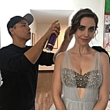 Alison Brie with Hairstylist Bobby Eliot