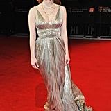 A metallic Oscar de la Renta at the 2012 BAFTAs.