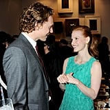 Tom charmed Jessica Chastain.
