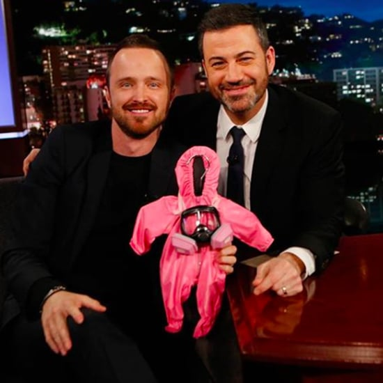 Jimmy Kimmel Gives Aaron Paul Baby Meth Suit