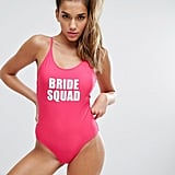 Boohoo Bride Squad Swimsuit