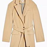 Topshop Buttermilk Oversized Dad Coat