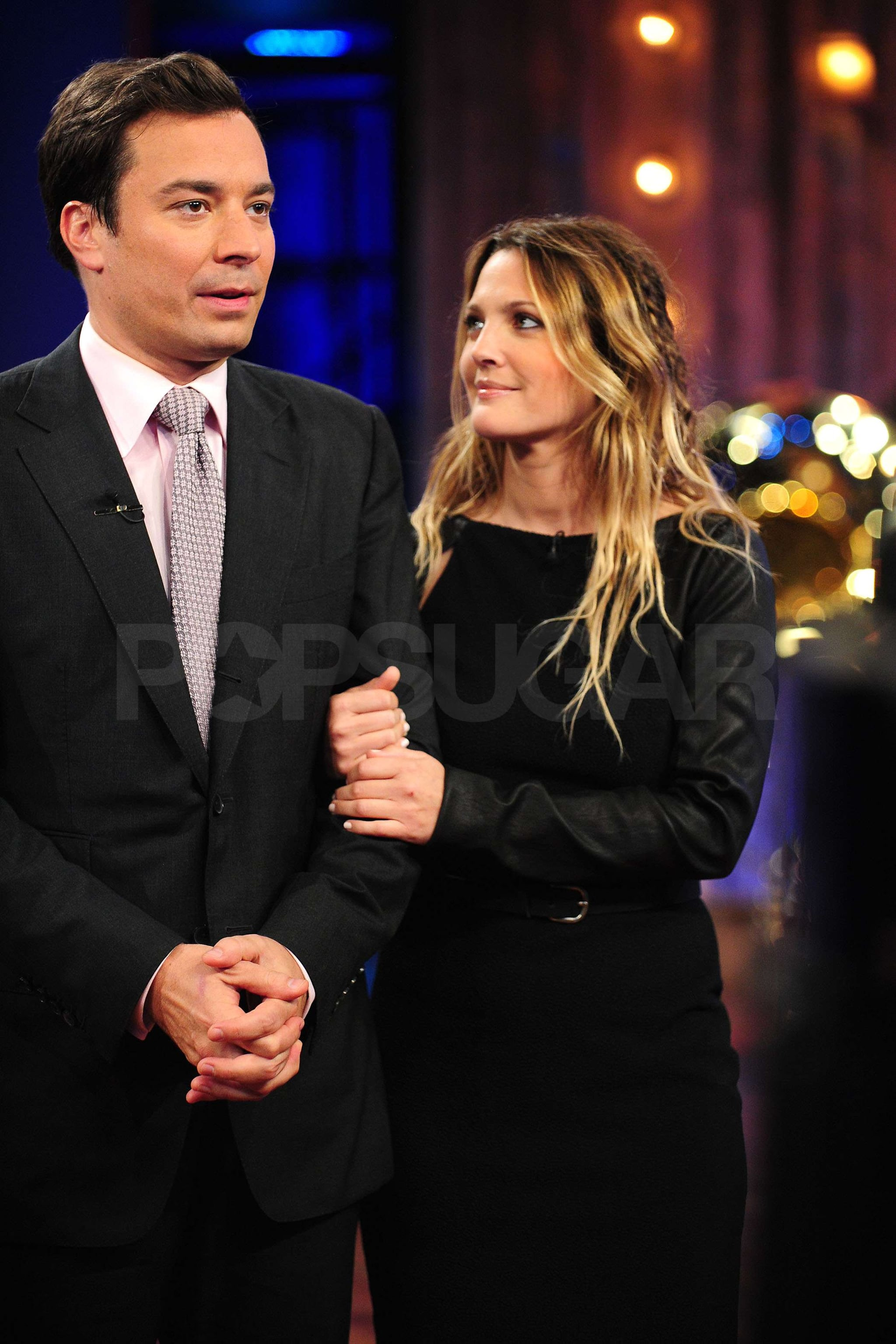 Pictures of Drew Barrymore Visiting Late Night With Jimmy ...