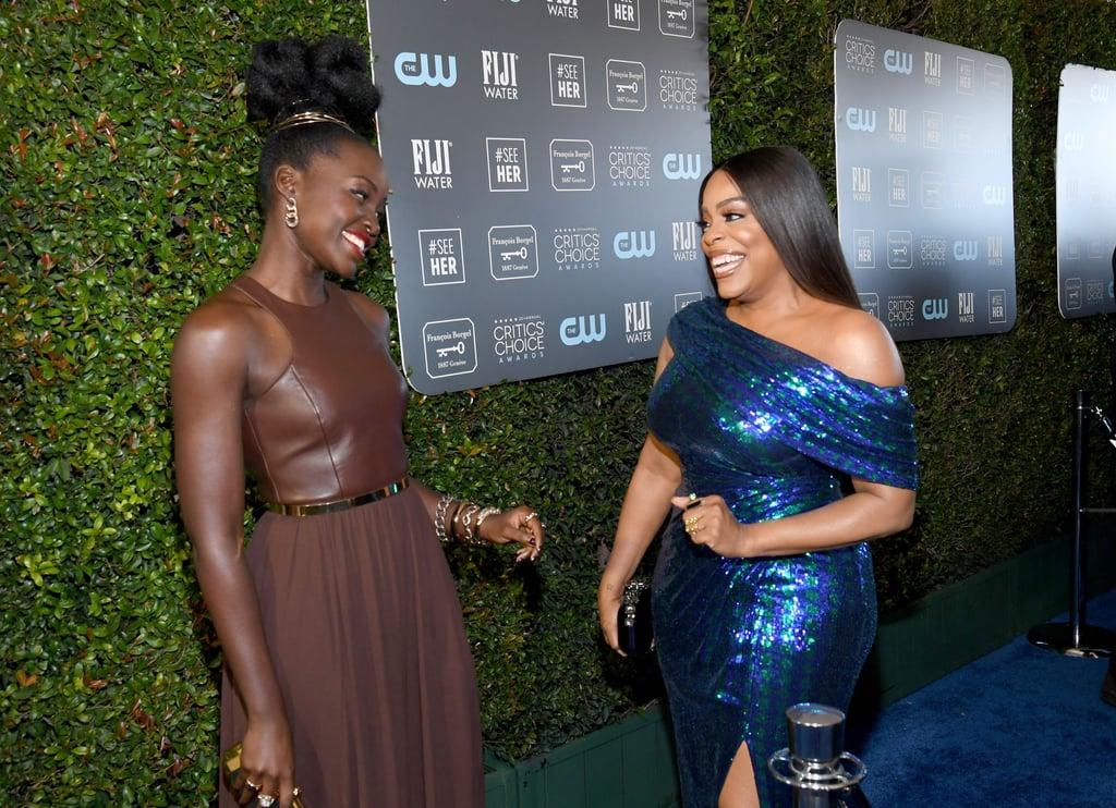 Lupita Nyong'o and Niecy Nash at the 2020 Critics' Choice Awards