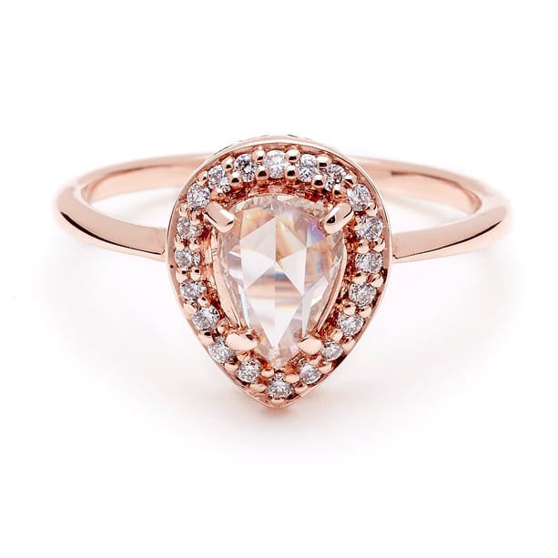 Bague fiancaille rose gold
