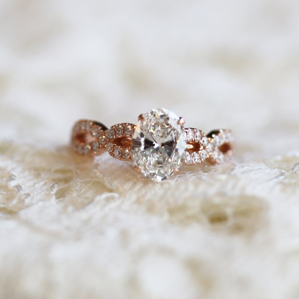 Marquise Band Oval Rose Gold by Ada Diamonds