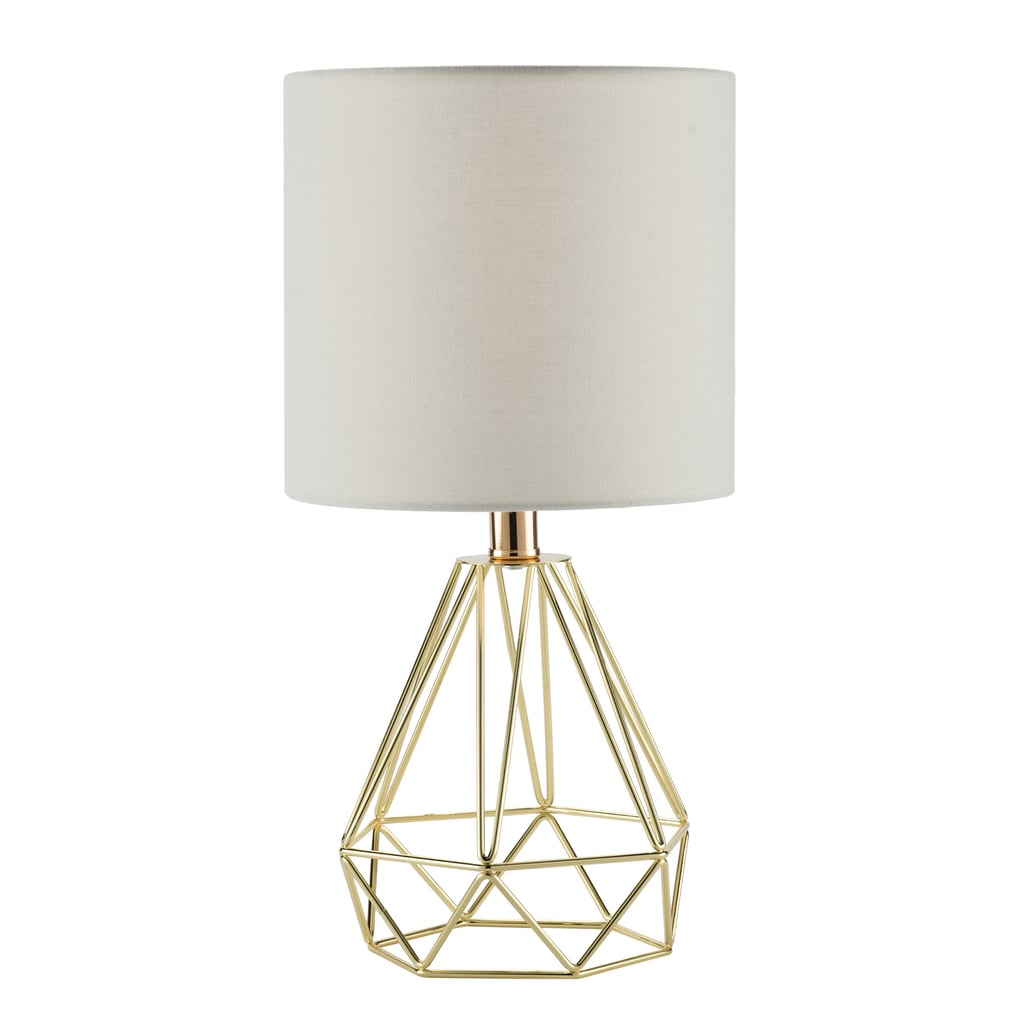 Preenex Table Lamp With Gold Hollowed Out Base