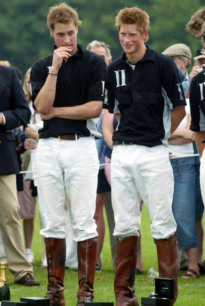 In June 2003, Will and Harry stood side by side at the Calcot Manor Hotel polo cup.