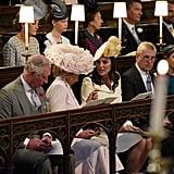 الأمير تشارلز، وكاميلا، دوقة كورنوال، وكيت ميدلتون، والأمير أندرو، والأميرة بياتريس