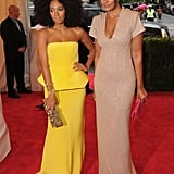 Long before Beyoncé feuded with Rachel Roy, the designer posed with her sister, Solange, at the event in 2012.