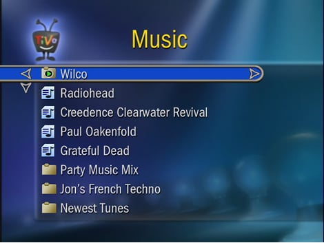 Using TiVo as a Music Player