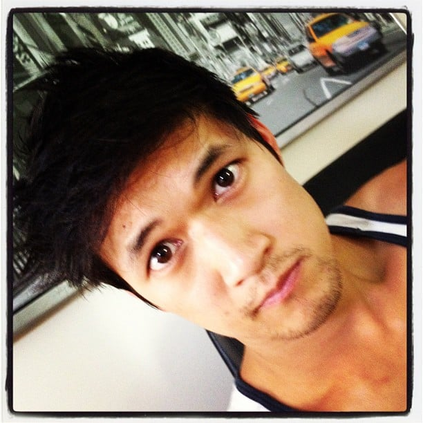 Glee's Harry Shum Jr. showed off his new haircut. Source: Instagram user harryshum