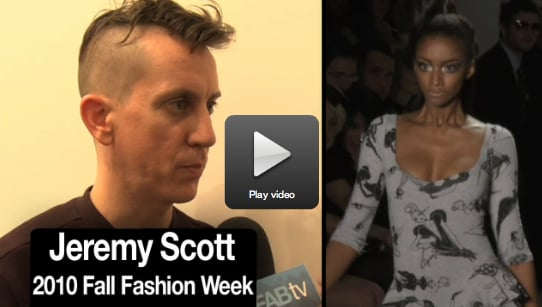 Exclusive Jeremy Scott Interview at 2010 Fall New York Fashion Week