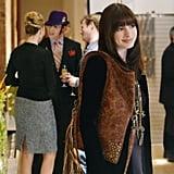 She Sported a Gorgeous Distressed Studded Handbag by La Rue
