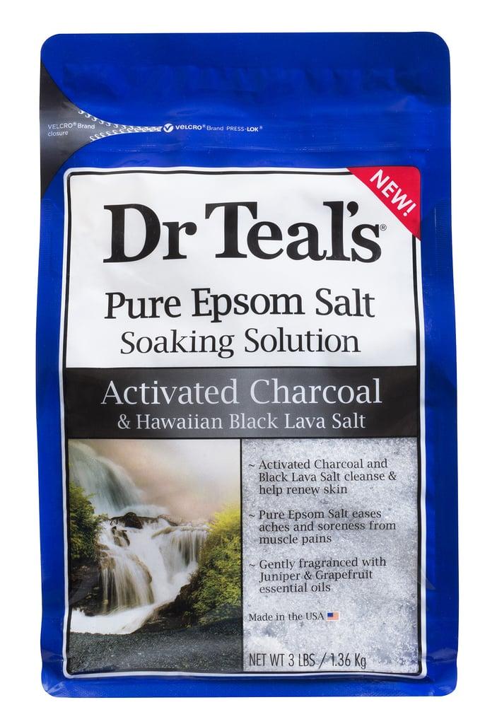 Dr. Teal's Pure Epsom Salt Soaking Solution Activated Charcoal & Hawaiian Black Lava Salt