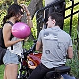 Pictures of Vanessa Hudgens and Josh Hutcherson on a Motorcycle Ride