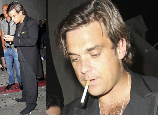 Photos Of Robbie Williams Out In LA At Villa Nightclub, June 2008