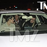 Justin Timberlake and Jessica Biel have dinner with his parents at Angelini Osteria in LA.