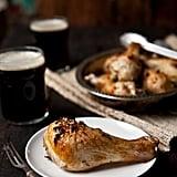 Beer Brined Roasted Rosemary Chicken Legs
