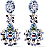 Etro Silver-Plated Enamel Earrings (£415)