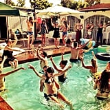 Bar Refaeli captured a pool-party scene.  Source: Instagram user barrefaeli