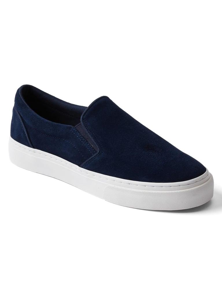 Suede slip-on sneakers ($50)