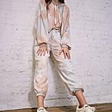 Out From Under Jenny Tie-Dye Fleece Jogger Pants and Tie-Dye Cropped Hoodie Sweatshirt