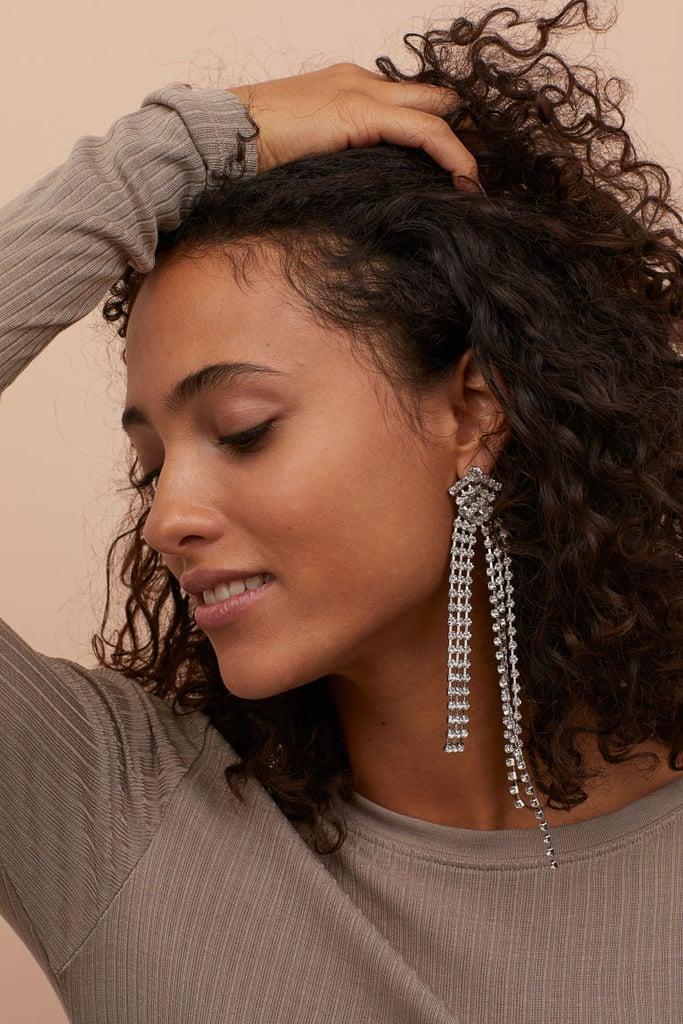 H&M Long Rhinestone Earrings