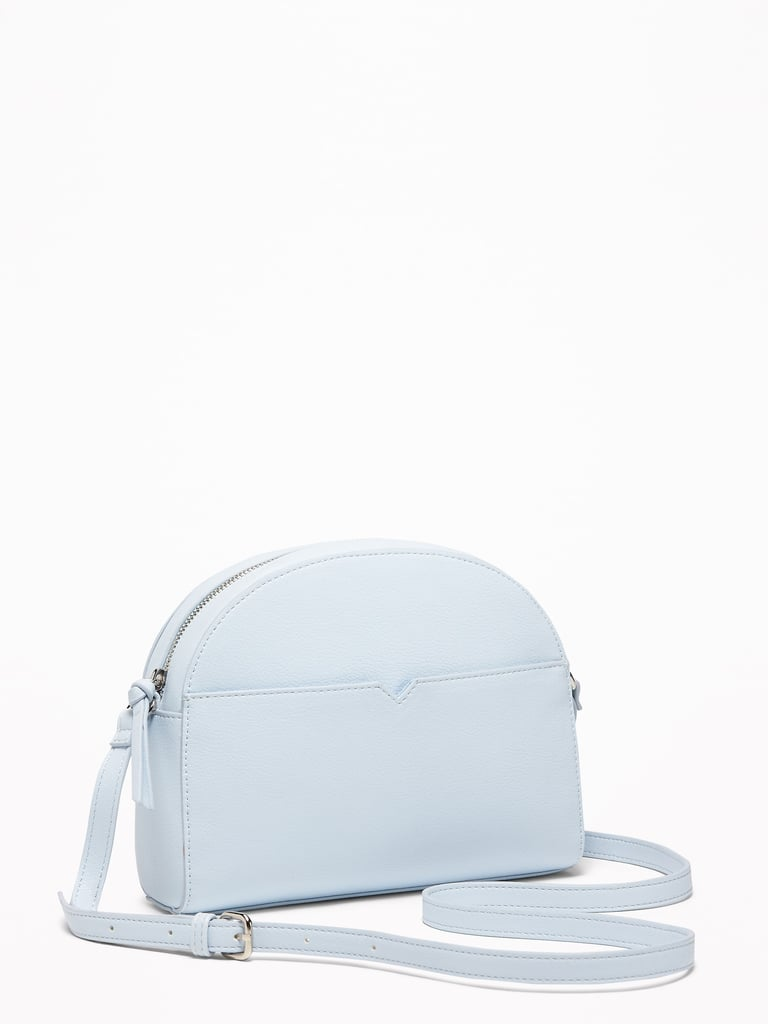 Old Navy Faux-Leather Half-Moon Crossbody Bag