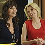 Mary Steenburgen and Elizabeth Banks on 30 Rock. Photo courtesy of NBC