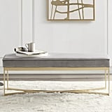Wayfair x Martha Stewart Secor Upholstered Bench