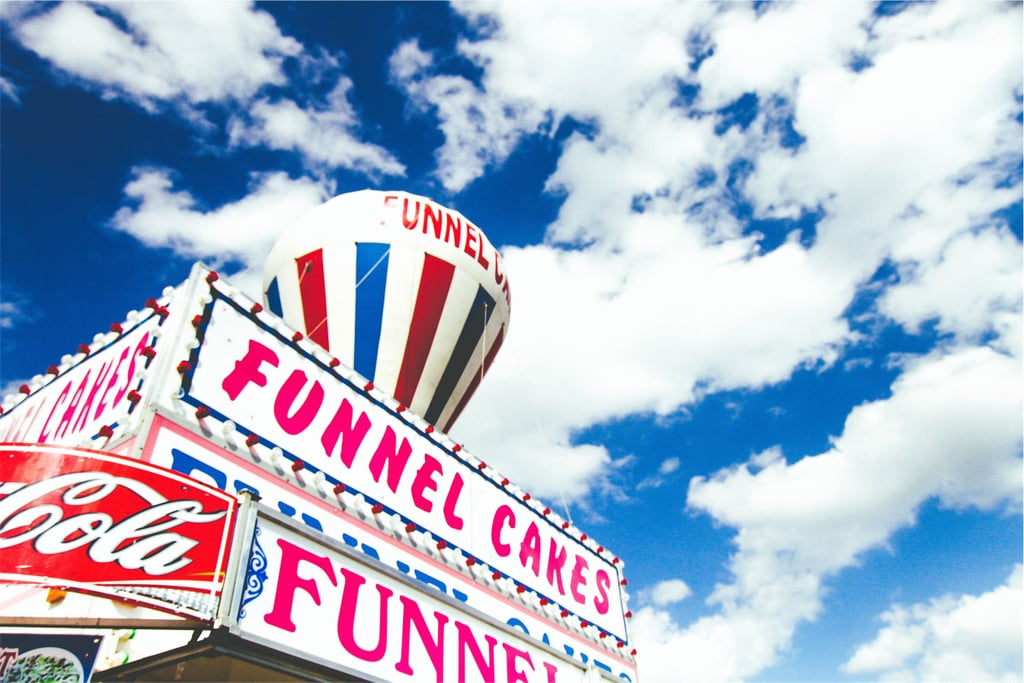Indulge in fried foods at a fair.