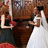 Olivia (Kerry Washington) has Abby (Darby Stanchfield) serve as her maid of honor.