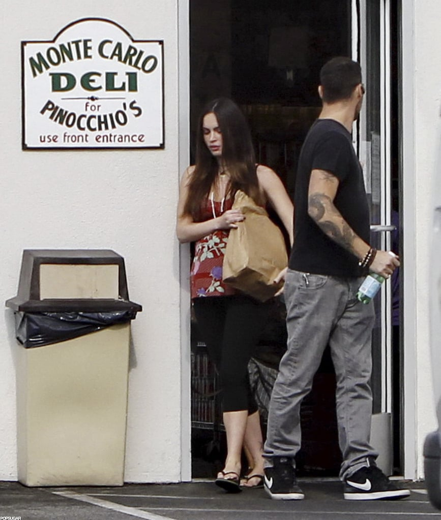 Megan Fox carried a bag out of a deli with husband Brian Austin Green.
