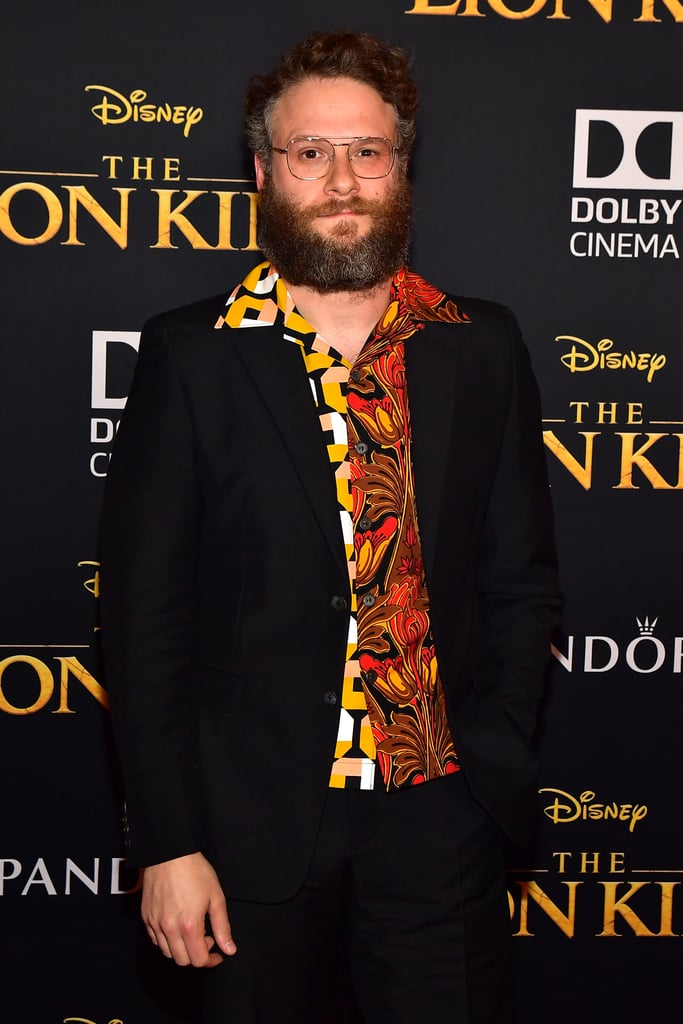 Pictured: Seth Rogen at The Lion King premiere in Hollywood.